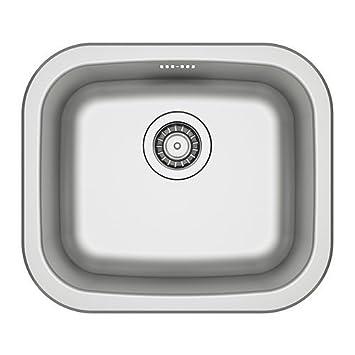 IKEA FYNDIG Einbauspüle 1 Becken; aus Edelstahl: Amazon.de: Küche ...