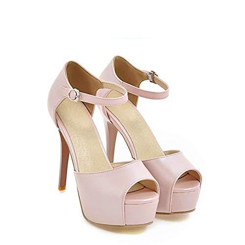 Plateau Imperméables Chaussures E 37 46 Rose Femme À Stiletto Talons Hauts Sandales Zl 48qY0x