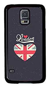 Graffiti London PC Black Hard Case Cover Skin For Samsung Galaxy S5 I9600