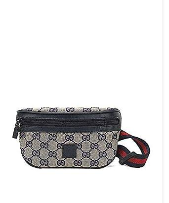 b2d85c92270659 Amazon.com: Gucci Kid's GG Canvas Belt Bag - Blue: Clothing