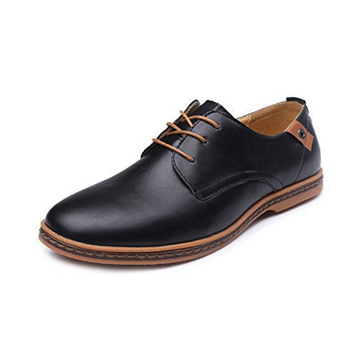 Zapatos Hombres de de Tobillo la Lisa EU Zapatos los Hombre Cordones de de Respirables Oxfords con comerciales para Formales Superior Negro 2018 Color Arriba PU Fang Cuero 39 Tamaño shoes Marrón wvIz77