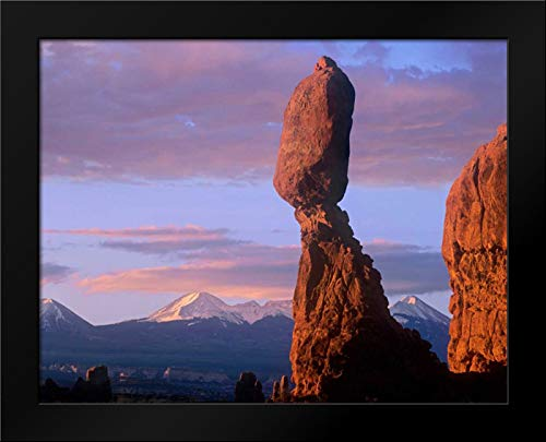 La Sal Mountains and Balanced Rock, Arches National Park, Utah Framed Art Print by Fitzharris, Tim Balanced Rock Arches National Park