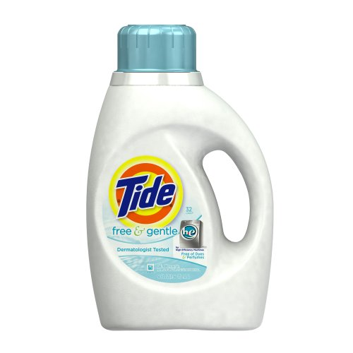 Tide Free and Gentle High Efficiency Unscented Detergent, 50 - High Efficiency Liquids
