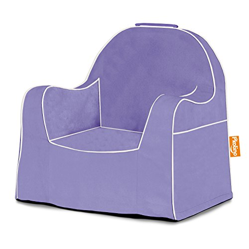 P'kolino Little Reader Light Purple with White Piping Childrens Chairs, Leaves