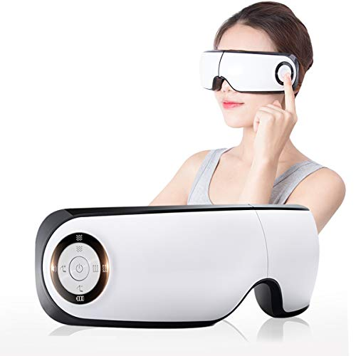 Electric Eye Massager with Heat Temple Massager Eyes Massager - Eye Stress Relief Machine with Heat Compression, Air Pressure for Fatigue Relief and Vibration for Refresh Mind (Soft Fabric) …