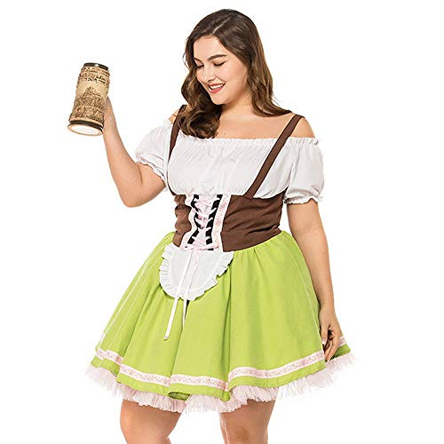 Women's Costumes Barmaid Dirndl Dresses, Halloween Dresses for Women Plus Size, for Women Tea Length Maxi Elegant Autumn for $<!--$17.99-->