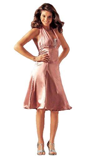 Evening 40 Scott Laura Abendkleid Gr Kleid Neckholder rose 6wxHZaq