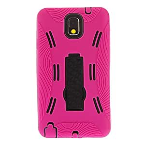 Detachable Gel Soft Outer Case Hard Back Cover with Stand for Samsung Galaxy Note3 --- COLOR:Blue