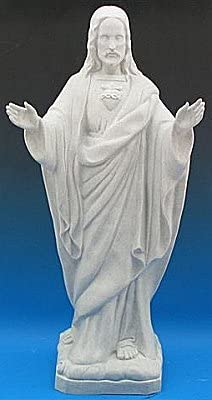 Amazon.com : Outdoor Statue - Blessing Sacred Heart Of Jesus ...