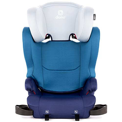 Diono Cambria 2 High-Back Children's Booster Seat – 6 Position Head-Support, 40-120 Pounds, Blue