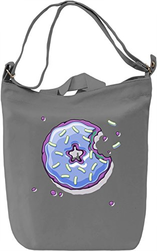 Blue Donut Borsa Giornaliera Canvas Canvas Day Bag| 100% Premium Cotton Canvas| DTG Printing|