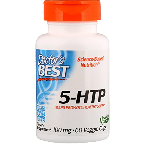 Doctor's Best 5-HTP, Non-GMO, Vegan, Gluten Free, Soy Free, 100 mg, 60 Veggie Caps ()