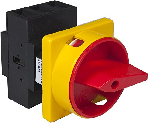 Csii Disconnect Switch, 100 amps UL, 3 pole, panel mount with round red/yellow padlock.