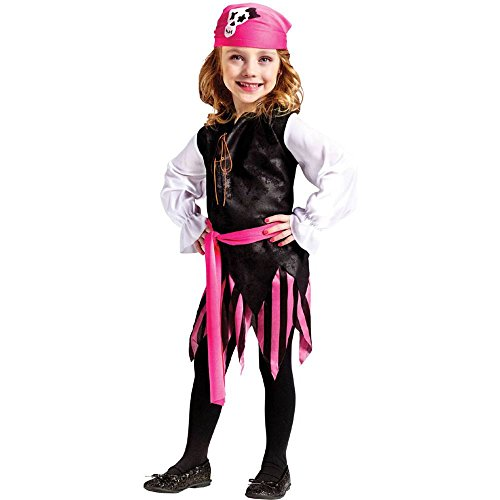 Caribbean Pirate Girl Toddler Costume (Pirate Costume For Toddler Girl)