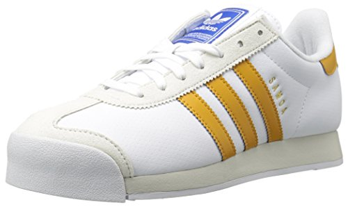 adidas Originals Men's Samoa,White/Tactile Yellow/Talc,8 Medium US