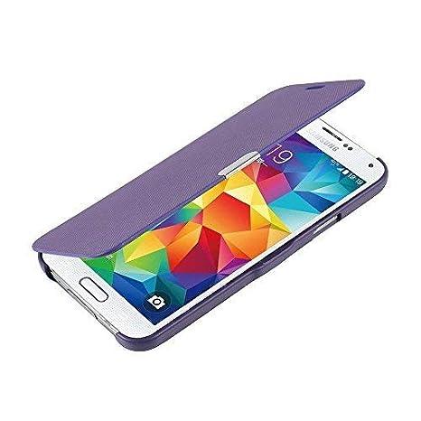 MTRONX para Funda Samsung Galaxy S5 Mini, Cover Case Carcasa Caso Ultra Folio Flip Cuero Delgado Piel con Cierre Magnetico para Samsung Galaxy S5 Mini ...