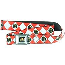 Power Rangers Logo Ranger Diamonds Adult Seatbelt Belt-Holds Pants Up
