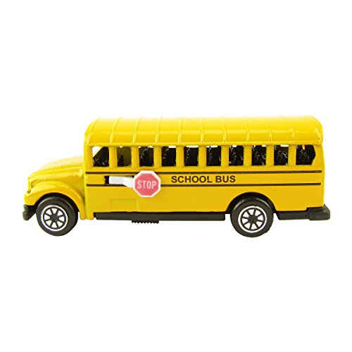 TreasureGurus, LLC 1:87 Scale HO Gauge Miniature School Bus Model Train Accessory Pencil Sharpener