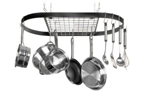 New Kinetic Classical Series Ceiling Mount Wrought-iron Oval Pot Rack