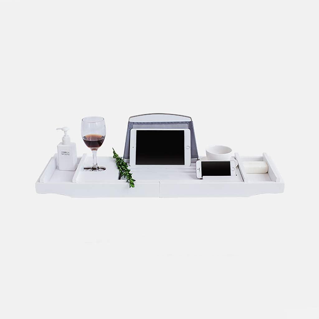 Badewannenablage aus MDF Badewannenbrett Ablage Badewanne Tablett Weiß Regal