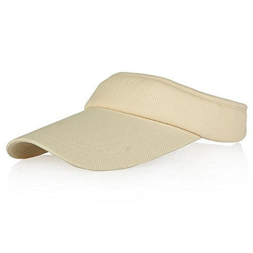Veatree Sun Visors for Women and Men, Long Brim Thicker Sweatband Adjustable Velcro Hats Caps for Cycling Fishing Tennis Running Jogging and other Sports, - With Hat Running