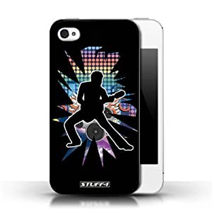KOBALT? Protective Hard Back Phone Case / Cover for Ipod Touch 4 | Stretch Black Design | Rock Star Pose Collection