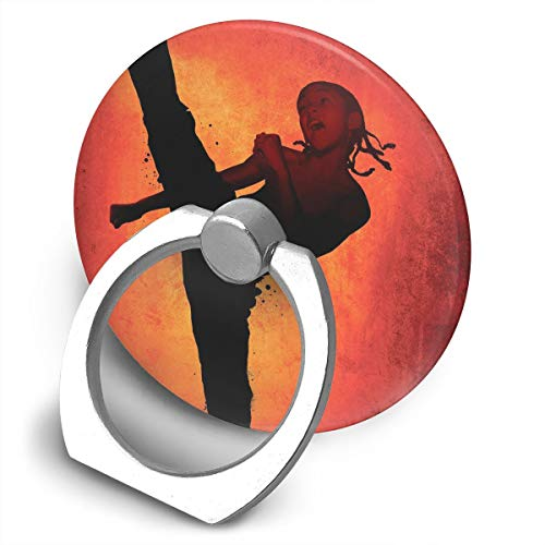 Round Finger Ring Cell Phone Holder Girl Karate 360 Degree Rotating Stand Grip Mounts