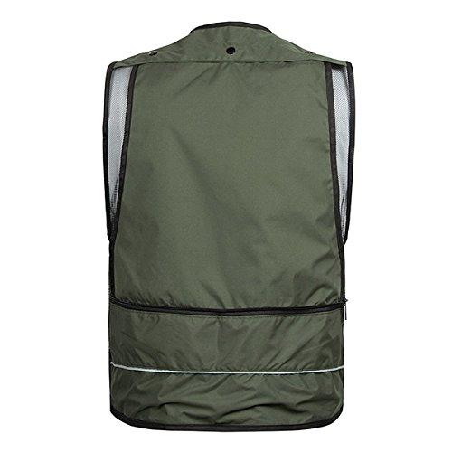 Gilet Gilet traspirante Gilet Quick Green Fotografia Dry Army Vest Vest Maglia Outdoor r1TrwZU