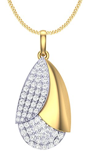 Clara Silvo 18K Gold Plated Sterling Silver Sara Pendant with Chain for Women and Girls