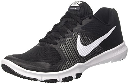 Image of the NIKE Mens Flex Control Low Top Lace up, Black/White/Dark Gray, Size 9.0