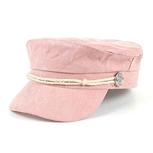 - Vintage Women Newsboy Autumn New Ladys' Casual Octagonal Hats Women Stripe Berets Cap Winter Hats Casquette Pink