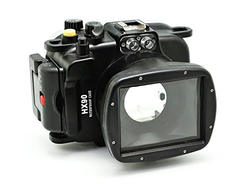 CamDive 40m/130ft waterproof underwater camera housing for Sony DSC-HX90v by KitDive