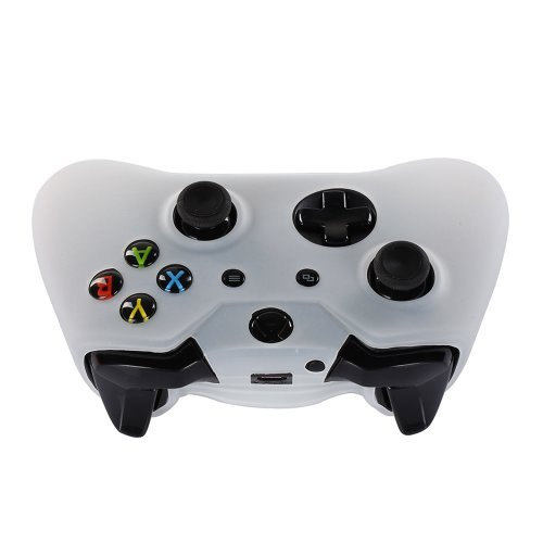Century Accessory Soft Silicone Protective Skin Case Cover for Microsoft Xbox One Game Controller White