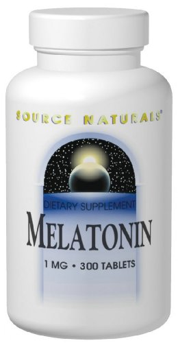Source Naturals - Melatonin, 1 mg, 300 tablets