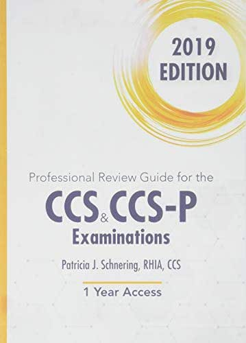 Professional Review Guide Online for the CCS/CCS-P Examination, 2019, 2 terms Printed Access Card