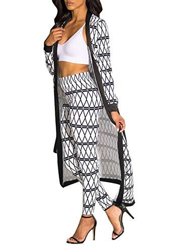 f074a08878 Nhicdns Womens 2 Piece Suit Floral Print Long Sleeve Kimono Cardigan Cover  up Long Pants Set