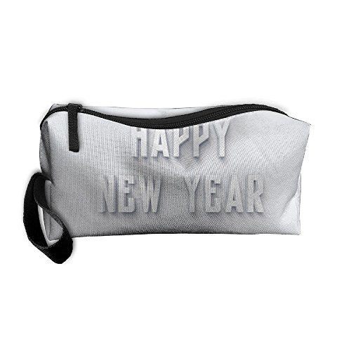 Kla Ju Portable Pen Bag Purse Pouch Happy New Year 2018 Stationery Storage Organizer Cosmetic Holder