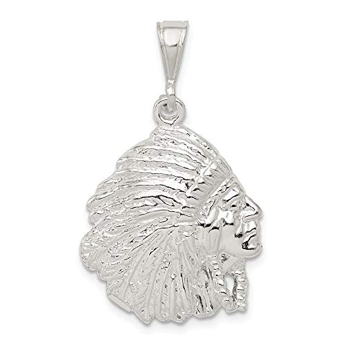 925 Sterling Silver Man Pendant Charm Necklace Western Fine Jewelry Gift For Dad Mens For Him
