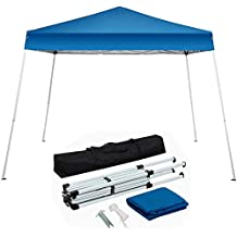 Yaheetech 10'x10' Outdoor Pop-Up Canopy Tent Portable Shade Instant Folding Canopy with Carrying Bag, Blue