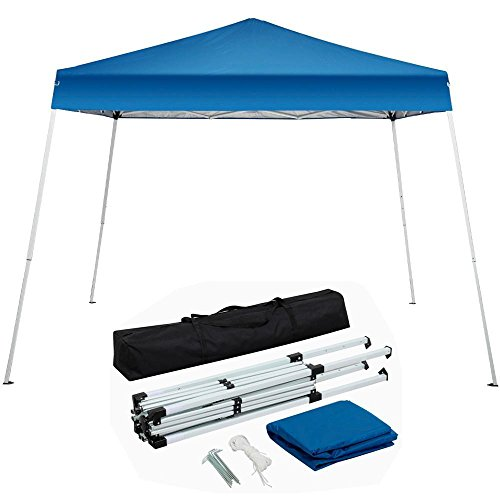 Yaheetech 10'x10' Outdoor Pop-Up Canopy Tent Portable Shade Instant Folding Canopy with Carrying Bag, (Heavy Duty Lightweight Instant Steel)