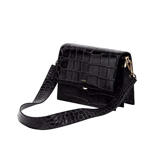 JW PEI Crocodile Crossbody Shoulder Bag Flap Vegan Leather Small Square Purse for Women