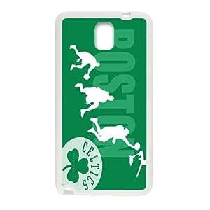 Boston Celtics NBA White Phone Case for Samsung Galaxy Note3 Case