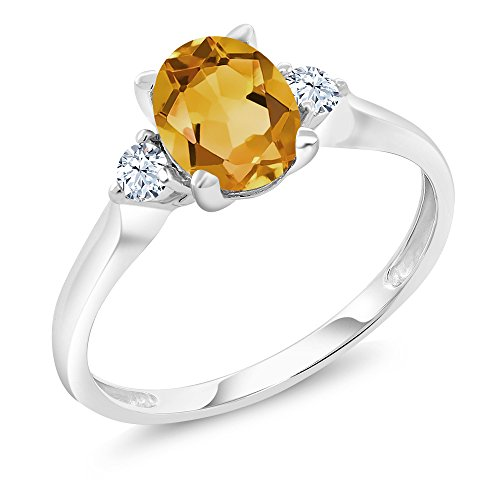 Gold Citrine Birthstone Ring - 9