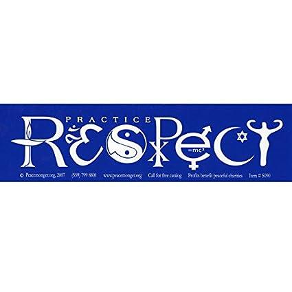 Amazon com: Peacemonger Respect Bumper Sticker (Goddess): Automotive
