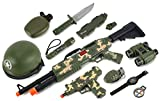 BRK Toys Combat Force Army Machine Gun & SMG Toy Gun Set W/ Battery Operated Machine Gun & SMG Includes Accessories