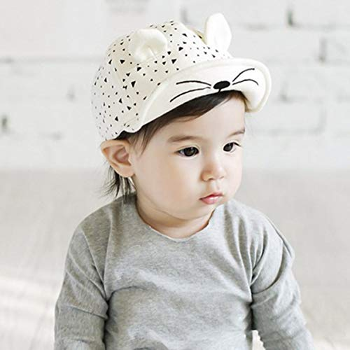 Z&I Convenient Design Bunny Print Triangle cat Baseball hat Cute hat(None WT) from Z&I