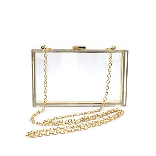 Patty Both Women Transparent Acrylic Evening Shoulder Handbag Cute Clear Box Clutch See Through Crossbody Purse (Acrylic Bag) by Patty Both