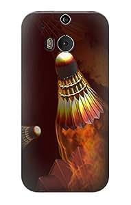E1239 Badmintons Funda Carcasa Case para HTC ONE M8