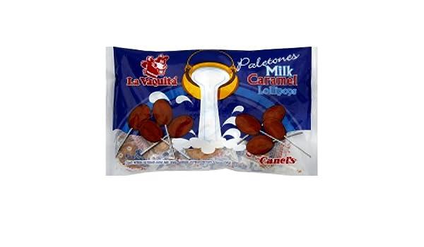 Amazon.com : Canels Paleta Milk De La Vaquita, 25-Count (Pack of 12) : Grocery & Gourmet Food