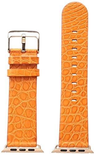 Orange Alligator Strap (Hadley Roma AP1000RAG42R 42mm Apple Strap Alligator Mte Leather Alligator Orange Watch Strap)